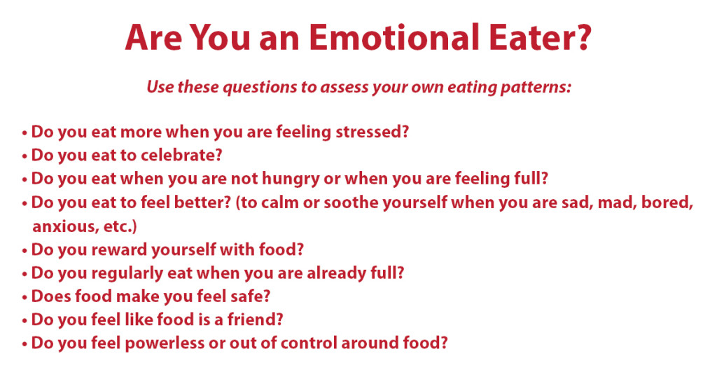 Are you an emotional eater? Quiz Graphic